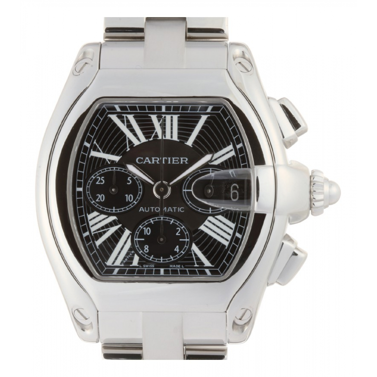 Cartier Roadster Silver Steel watch for Men \N