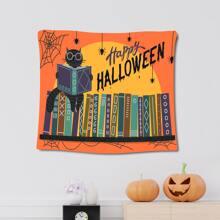 Halloween Tapisserie mit Katze Muster