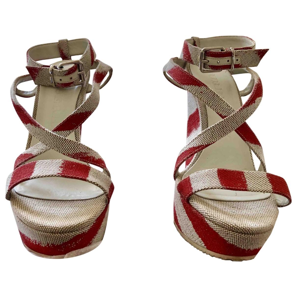 Sandalias de Lona Burberry