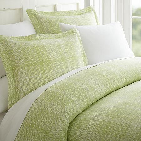 Ienjoy Home Casual Comfort Premium Ultra Soft Polka Dot Pattern Duvet Cover Set, One Size , Green