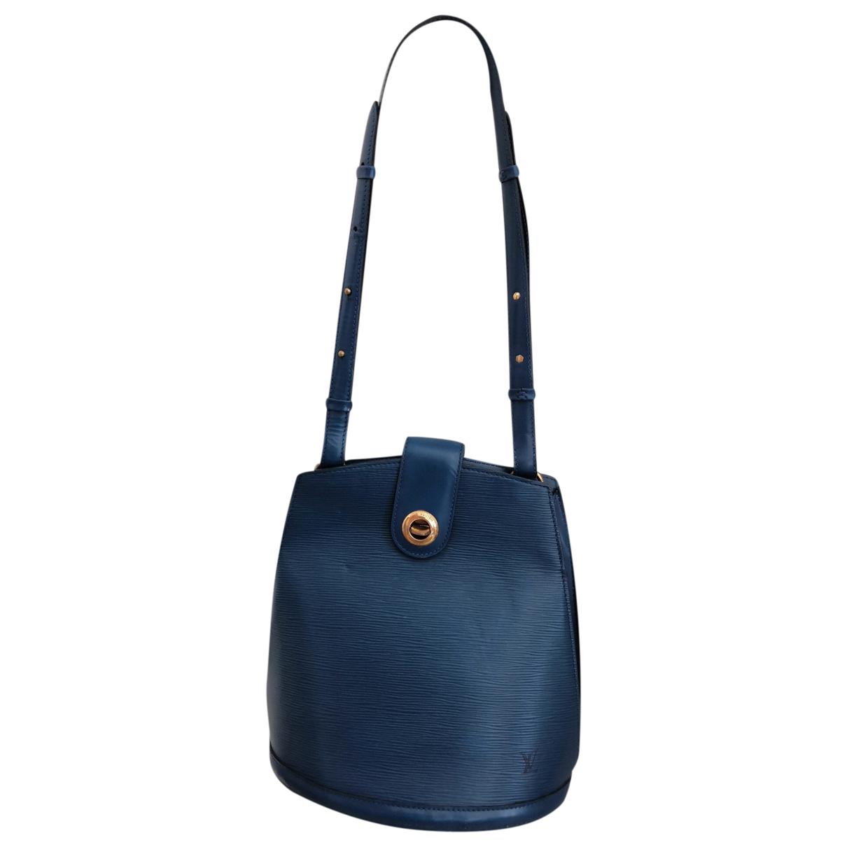Louis Vuitton Cluny Vintage Handtasche in  Blau Leder