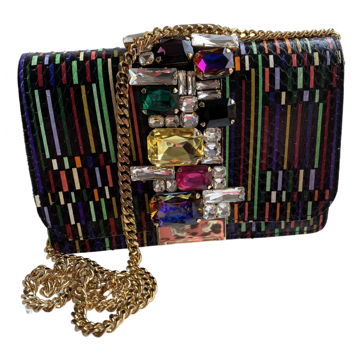 Gedebe N Multicolour Leather Clutch bag for Women N