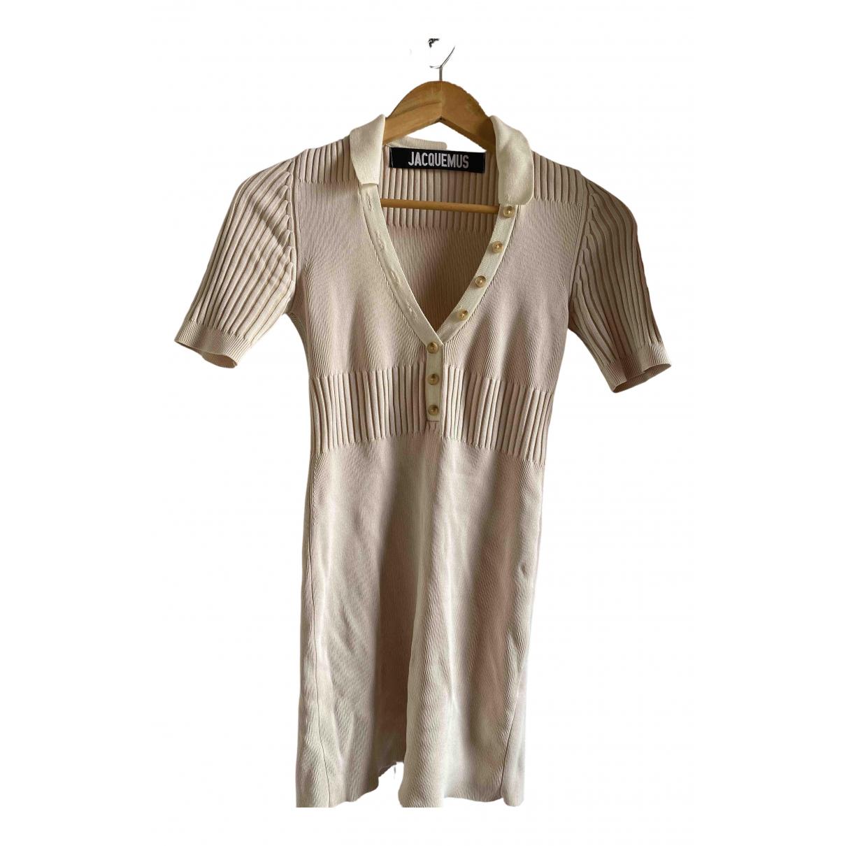 Jacquemus - Robe   pour femme en coton - beige