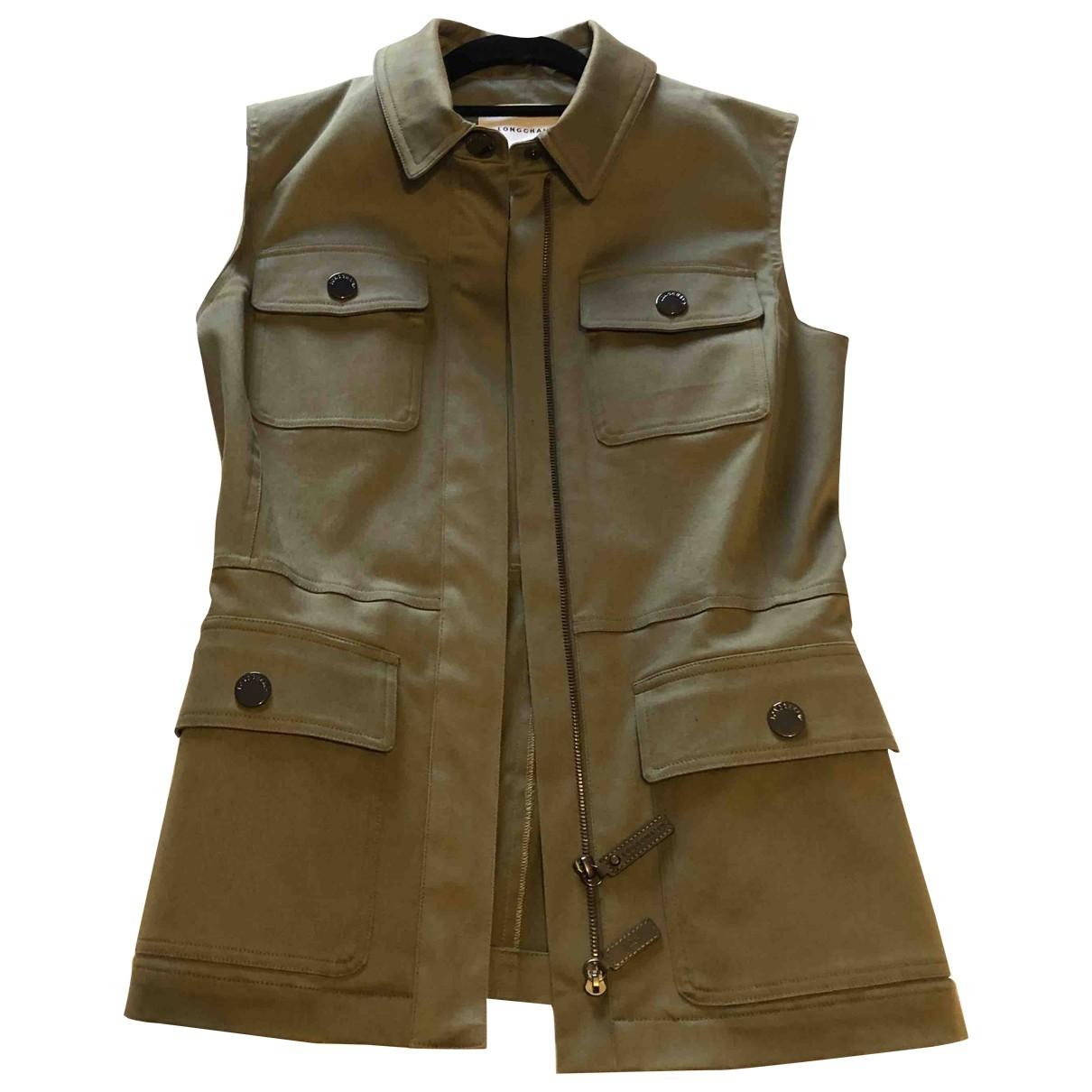 Longchamp \N Khaki Cotton jacket for Women 36 FR