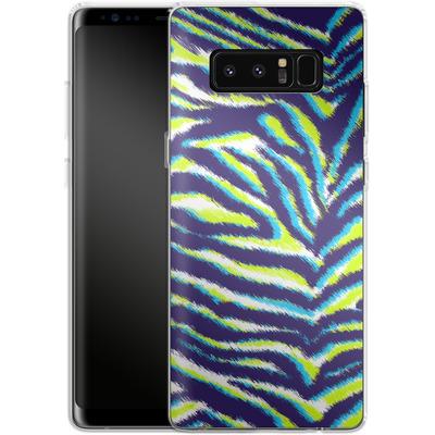 Samsung Galaxy Note 8 Silikon Handyhuelle - Neon Zebra von caseable Designs