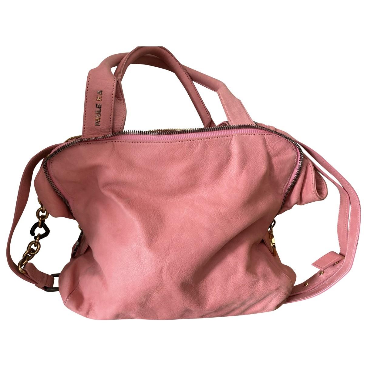 Paule Ka \N Pink Leather handbag for Women \N