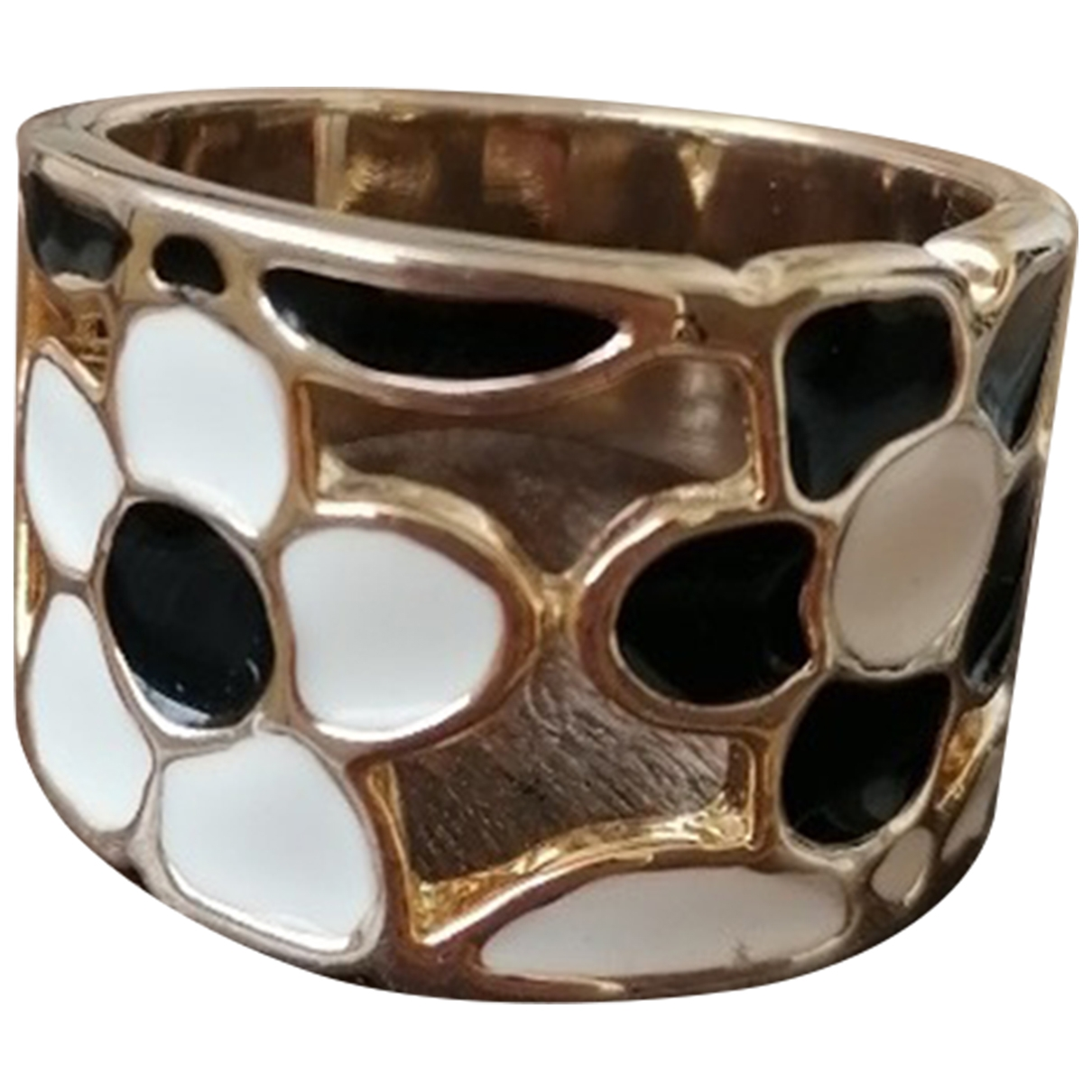 Non Signé / Unsigned Motifs Floraux Gold Metal ring for Women 59 MM