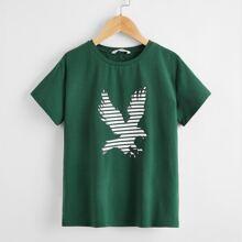 Jungen T-Shirt mit Adler Muster