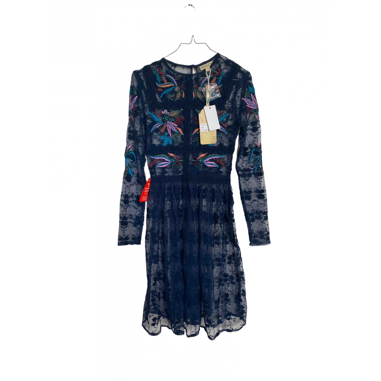 Frock And Frill \N Kleid in  Blau Viskose