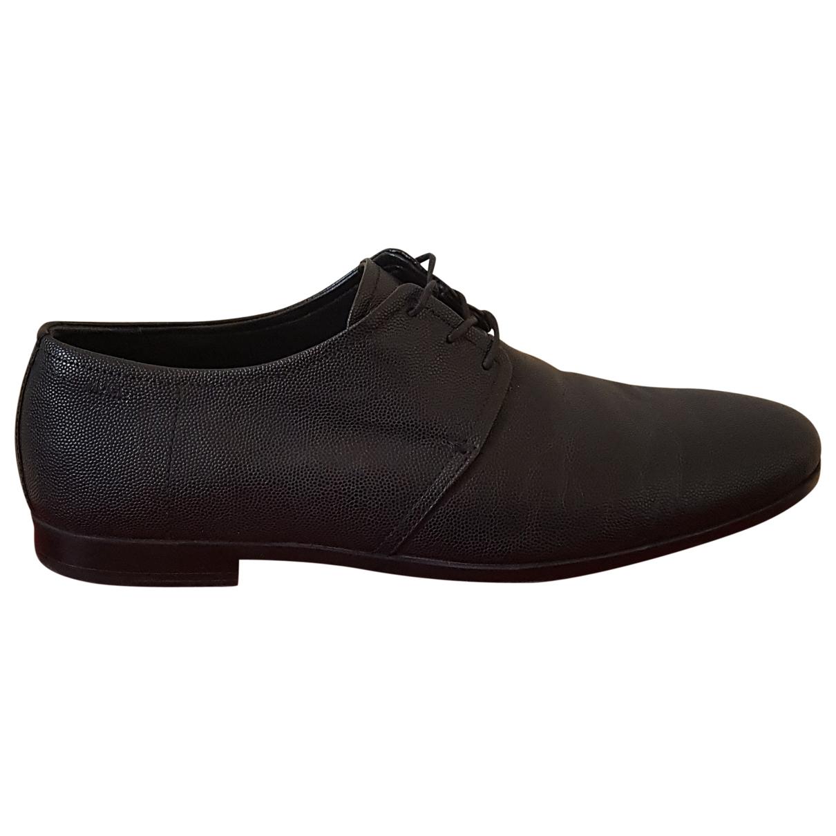 Hugo Boss \N Black Leather Lace ups for Men 42 EU