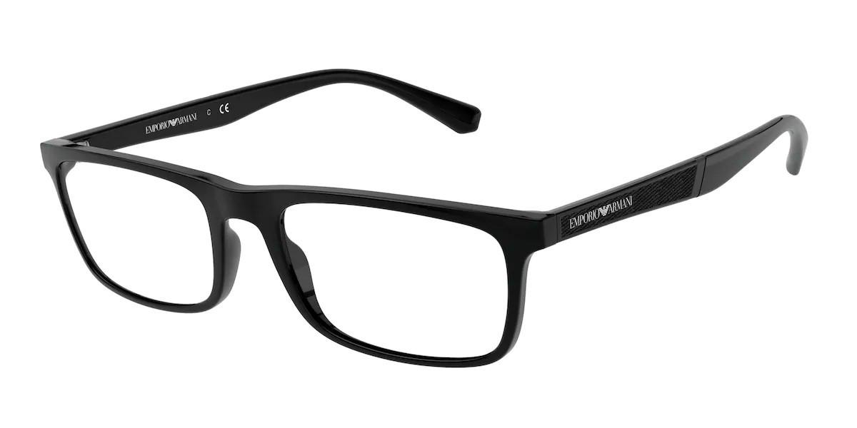 Emporio Armani EA3171 5017 Men's Glasses Black Size 53 - Free Lenses - HSA/FSA Insurance - Blue Light Block Available