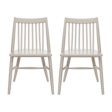 Wren Dining Side Chair-Set of 2, One Size , Gray