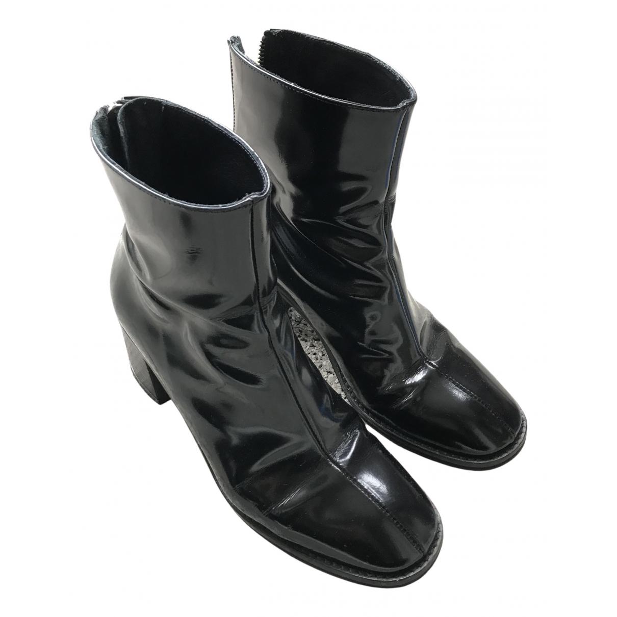 Miista N Black Leather Boots for Women 39 EU