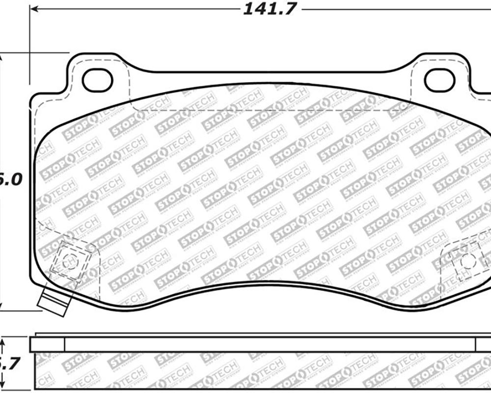 StopTech 305.1149 Street Select Brake Pads with Hardware Front