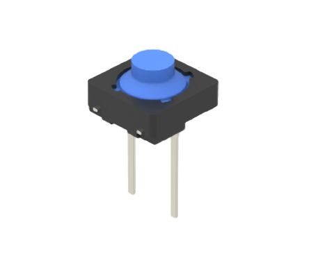 Alps Alpine Blue Button Tactile Switch, Single Pole Single Throw (SPST) 50 mA 2mm Through Hole (10)