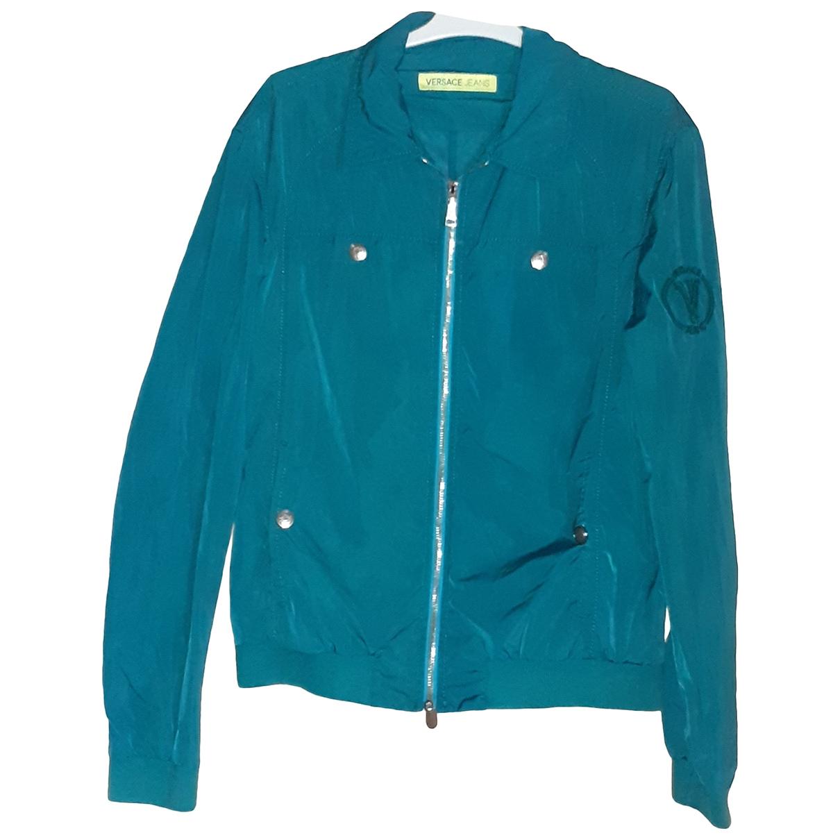 Versace Jeans \N Jacke in  Gruen Polyester