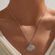 Halskette mit Strass Dekor und Schale Dekor