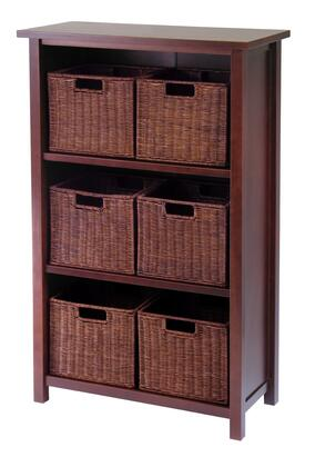 94310 Milan 7pc Cabinet/Shelf with Baskets; 6 Small in Antique