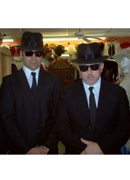Blues Brothers BlackSuit Costume+White Shirt&Skinny Black Tie Same Hat