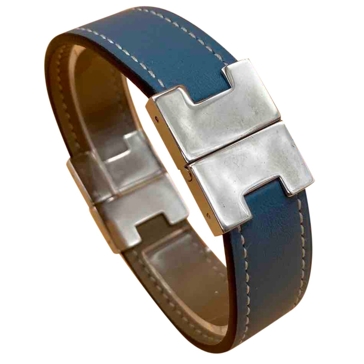 Hermès N Blue Leather bracelet for Women N
