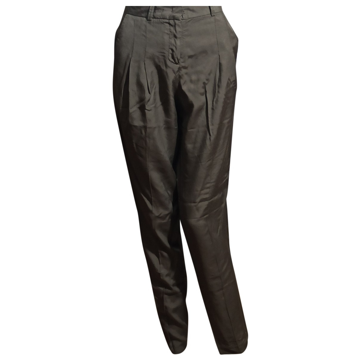 Maliparmi \N Khaki Trousers for Women 38 IT