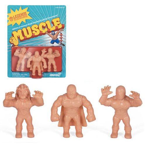 Legends of Lucha Libre M.U.S.C.L.E. Figures Pack A - Blue Demon Jr., Tinieblas Jr., Juventud Guerrera