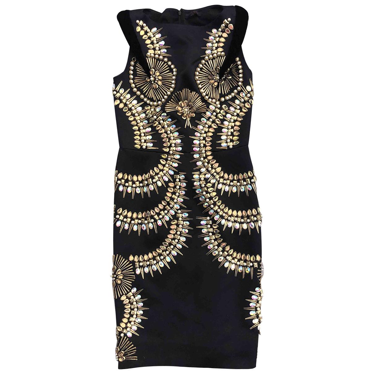 Manish Arora \N Kleid in  Schwarz Polyester