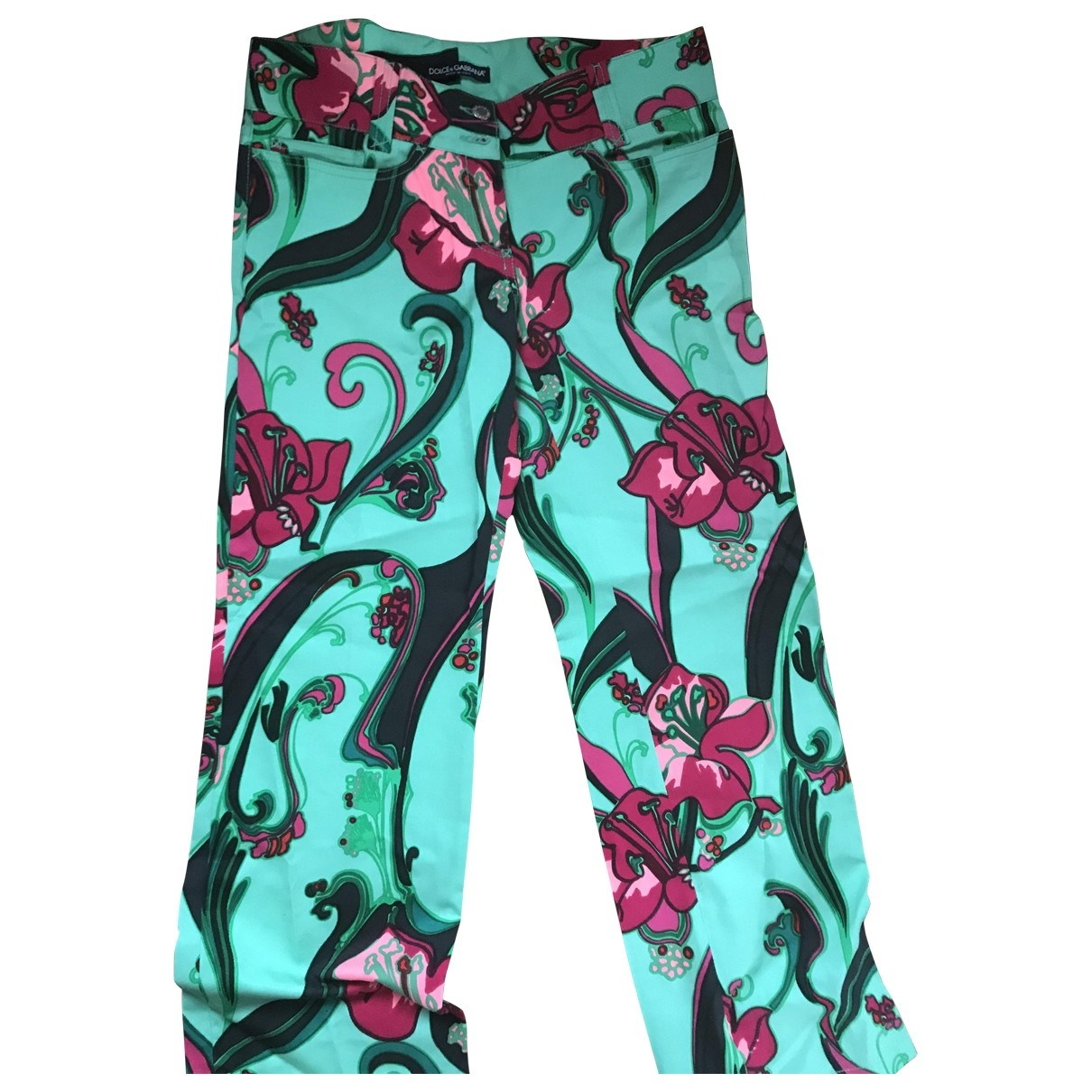 Dolce & Gabbana \N Multicolour Cotton Trousers for Women 44 IT