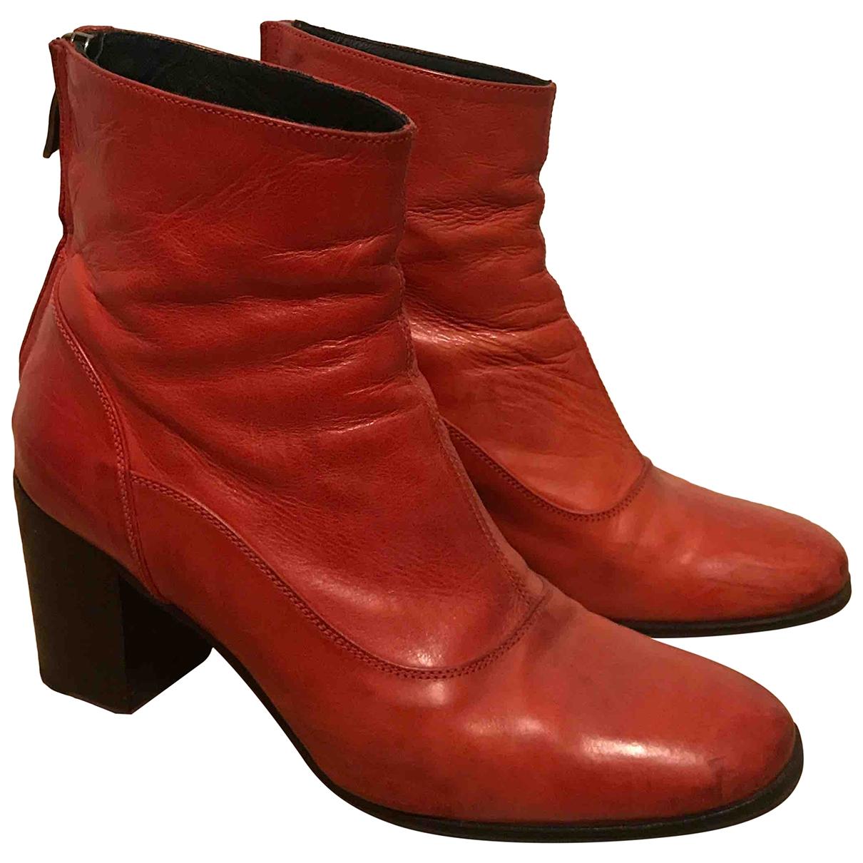 Alberto Fasciani \N Stiefeletten in  Rot Leder