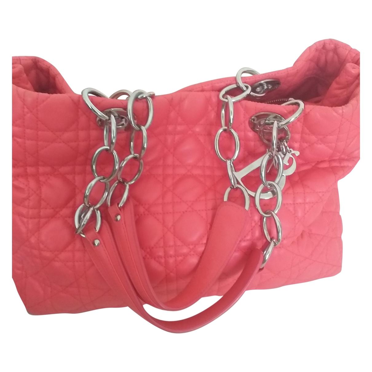 Dior Dior Soft Shopping Pink Leather handbag for Women \N