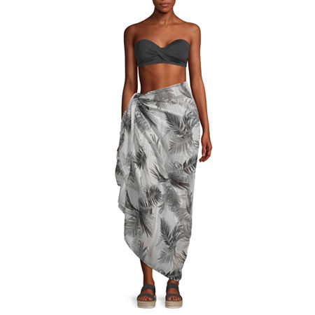 Mixit Tropical Sarong, One Size , White