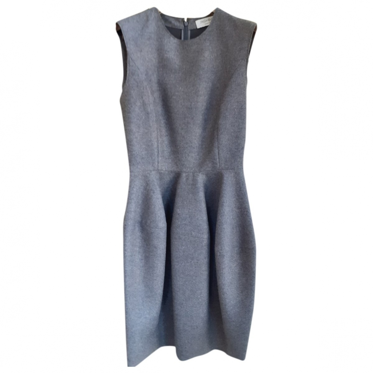 Yves Saint Laurent \N Kleid in  Anthrazit Wolle