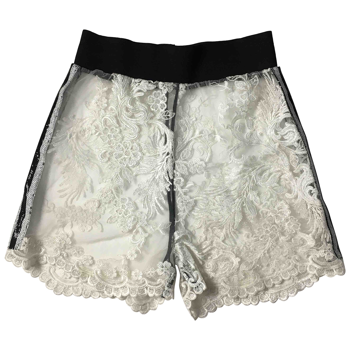 Non Signé / Unsigned \N White Shorts for Women S International