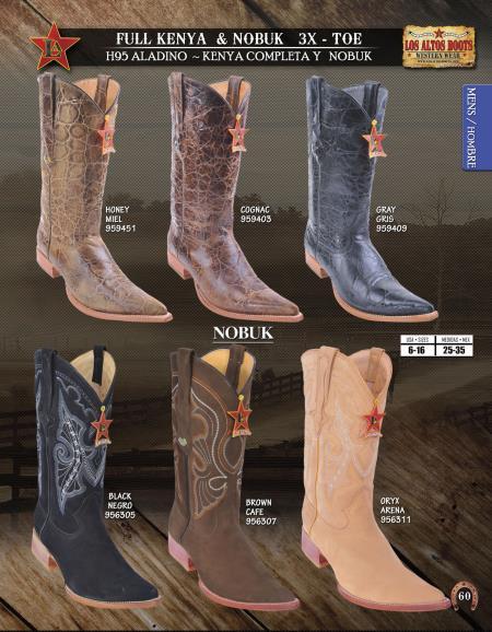 XXXToe Genuine Nobuk/Leather Mens Western Cowboy Boot Diff.Color/Size