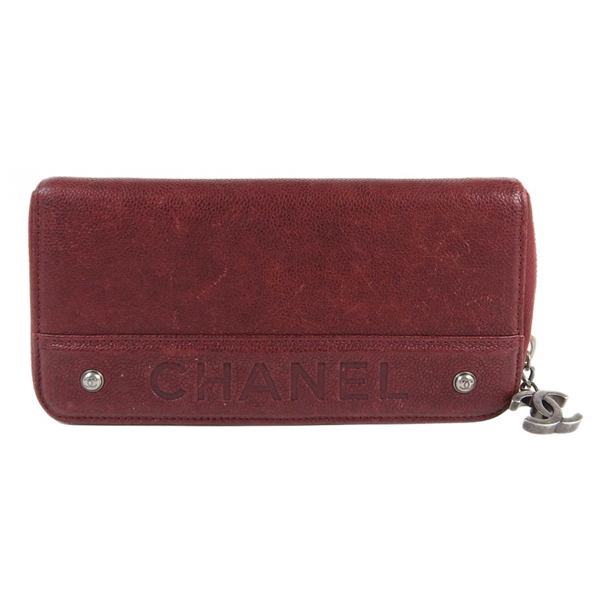 Chanel \N Burgundy Leather wallet for Women \N