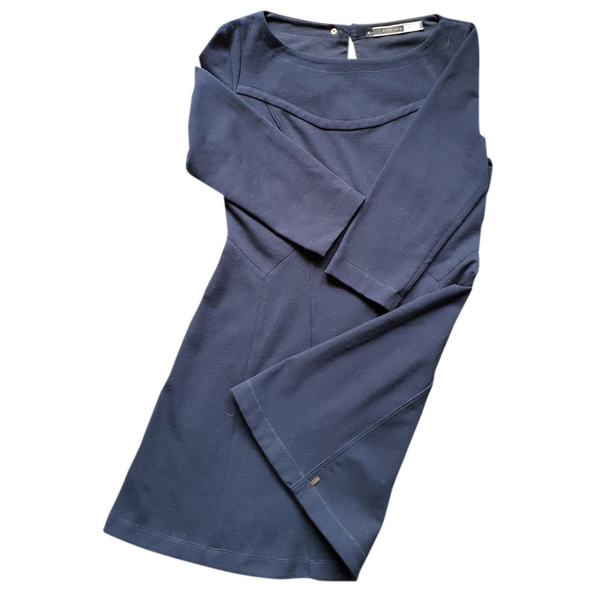 Sport Max \N Kleid in  Blau Baumwolle