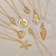 8pcs Shell Charm Necklace