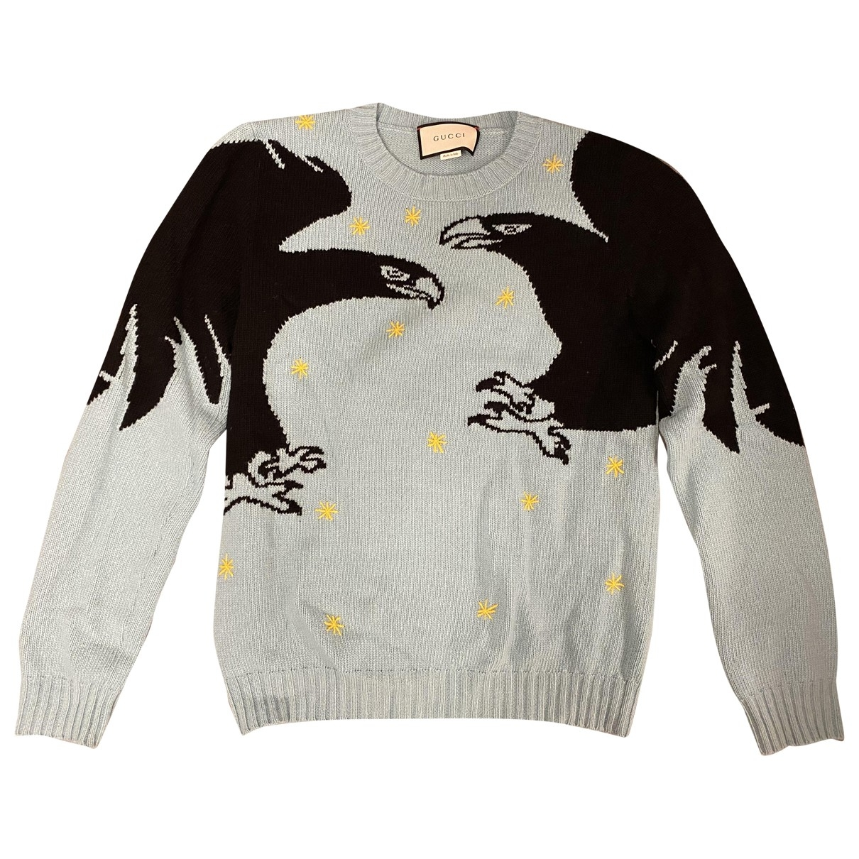 Gucci \N Pullover.Westen.Sweatshirts  in  Tuerkis Wolle