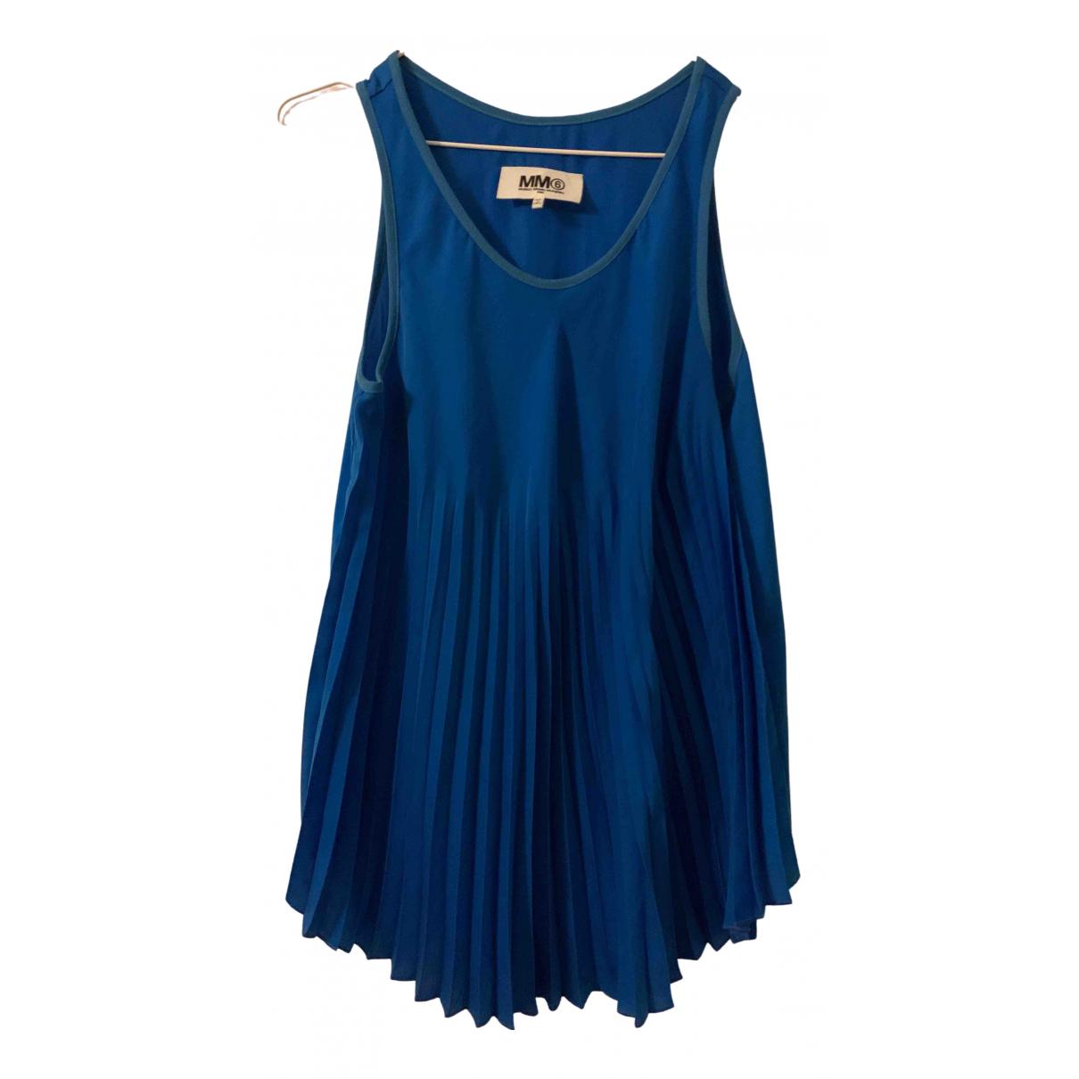 Mm6 \N Kleid in  Blau Baumwolle - Elasthan