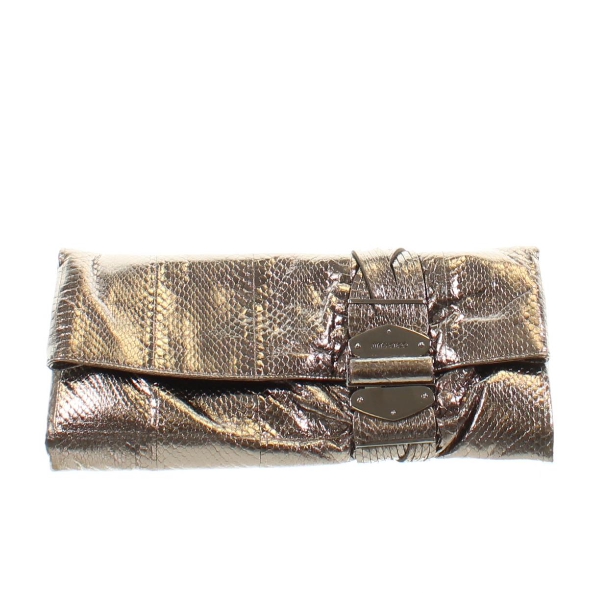 Jimmy Choo Chandra Silver Leather Clutch bag for Women \N