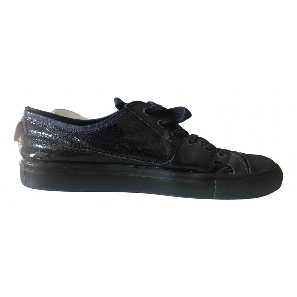 Neil Barrett \N Navy Patent leather Trainers for Men 43 IT