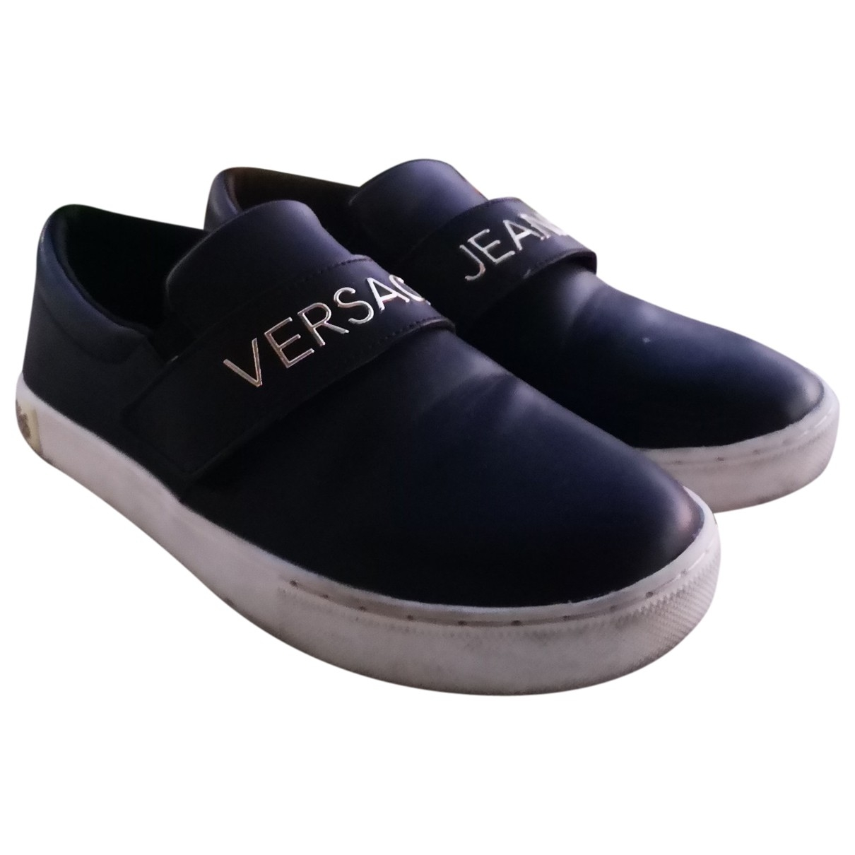 Versace Jeans \N Black Patent leather Trainers for Women 38 EU