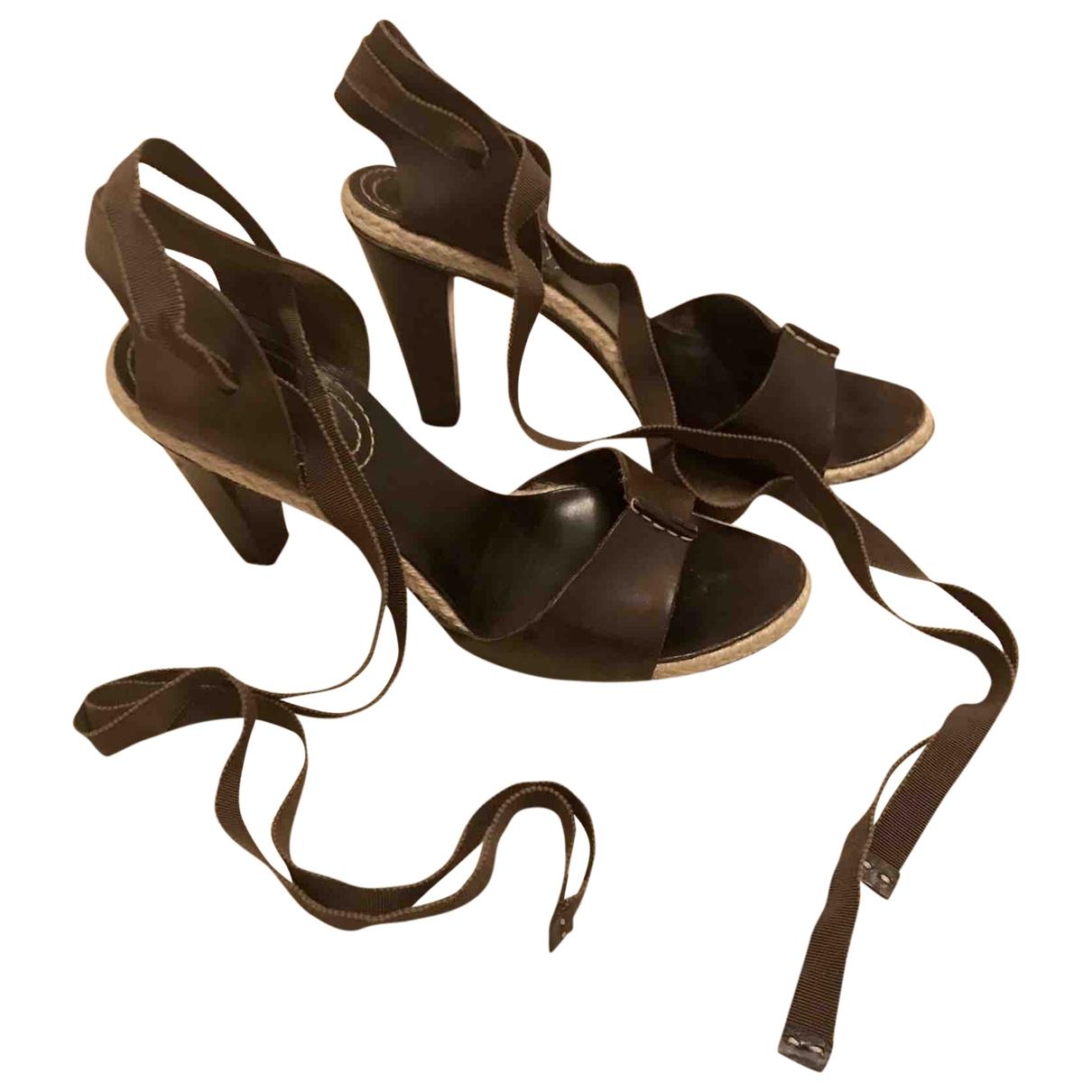 Celine \N Brown Leather Sandals for Women 39 EU