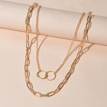 2pcs Round Link Necklace