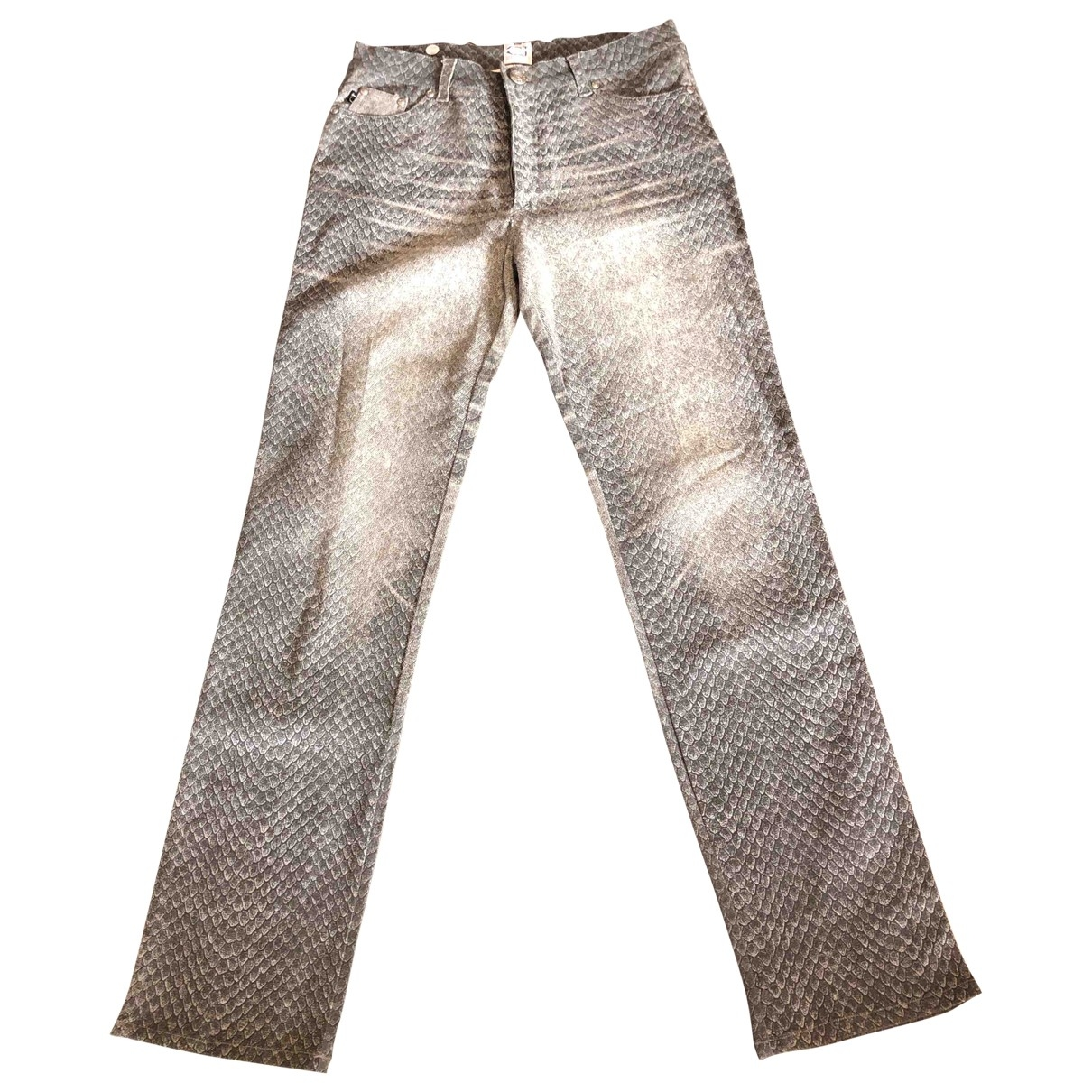 Just Cavalli \N Grey Cotton Trousers for Women L International
