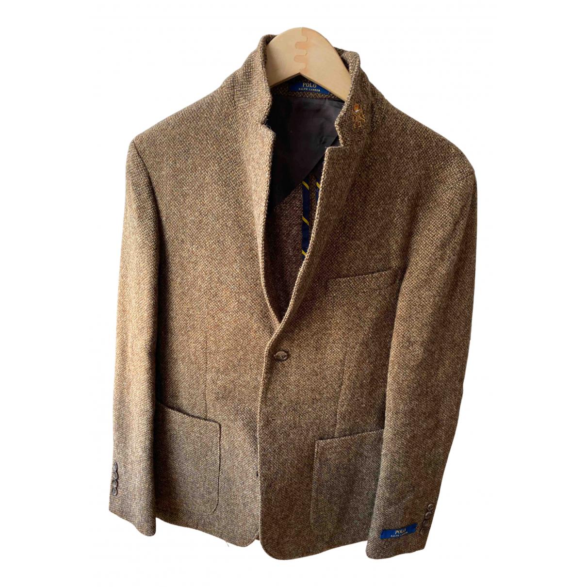 Polo Ralph Lauren \N Jacke in  Braun Wolle