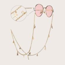 Brillenkette mit Muschel Anhaenger