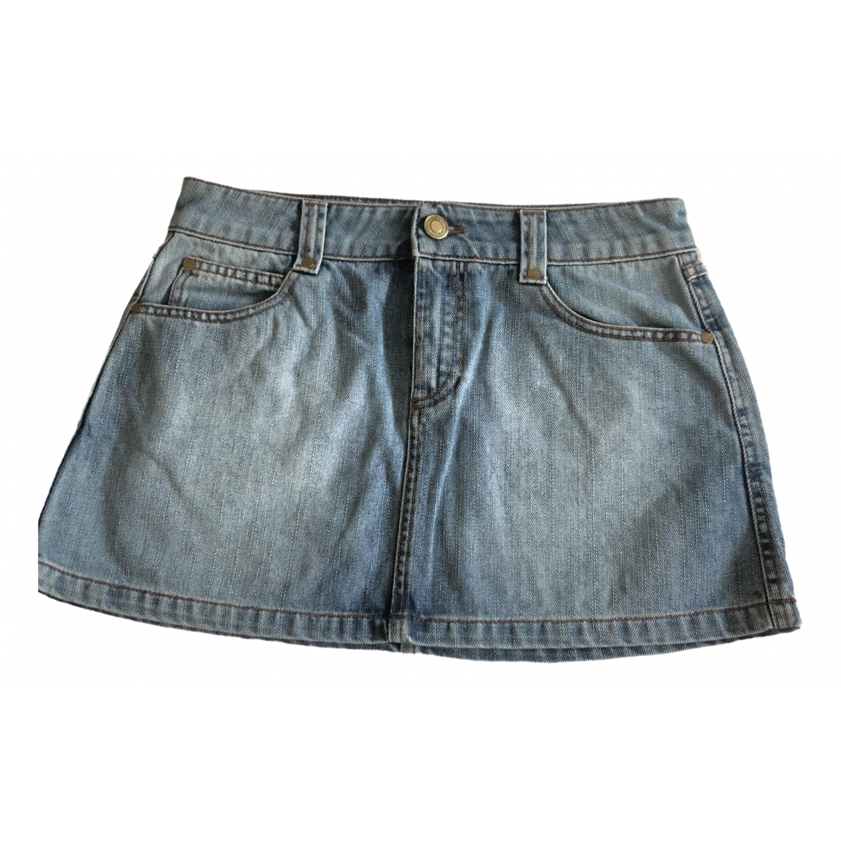 Gucci \N Blue Denim - Jeans skirt for Women 38 IT