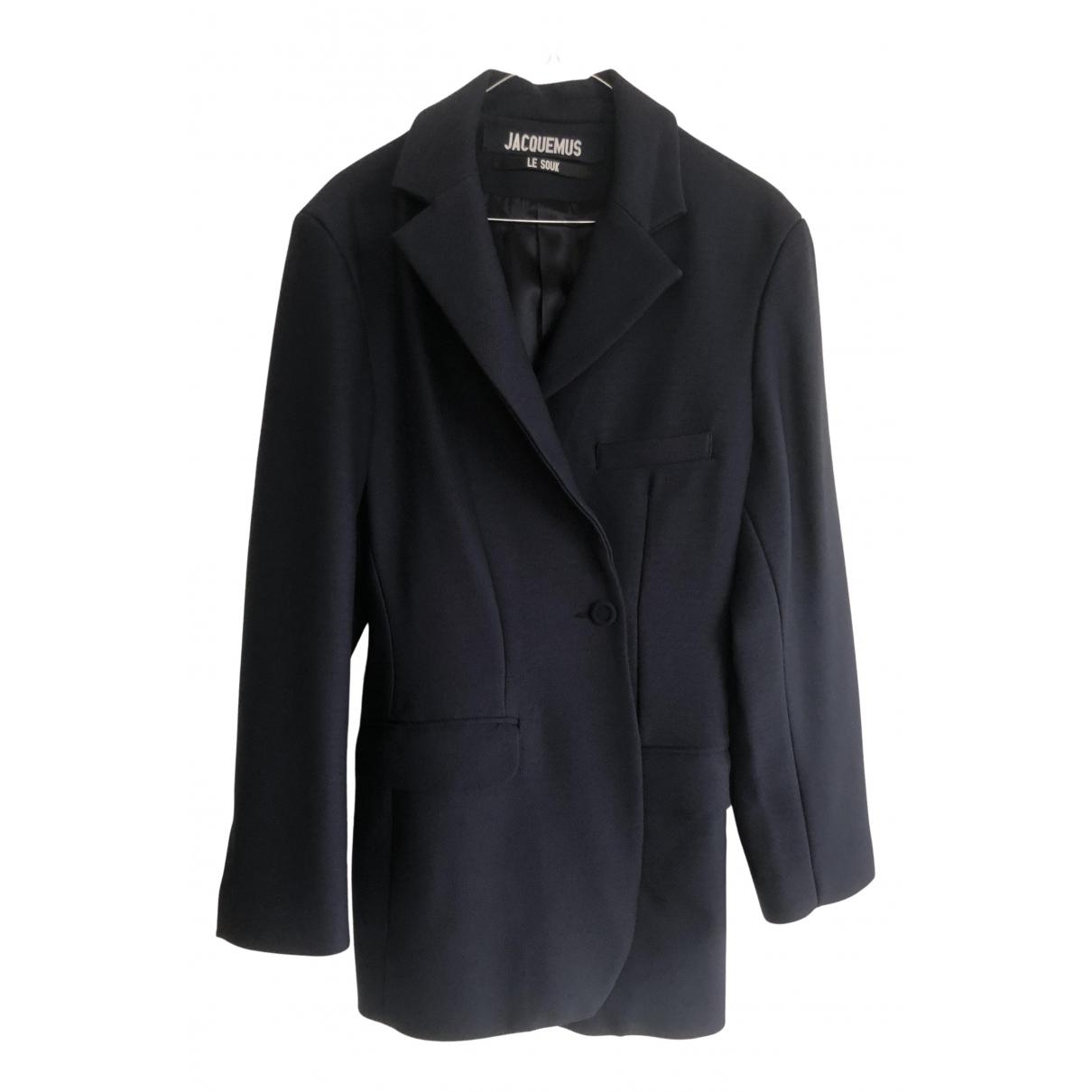 Jacquemus - Veste Le Souk pour femme en laine - bleu