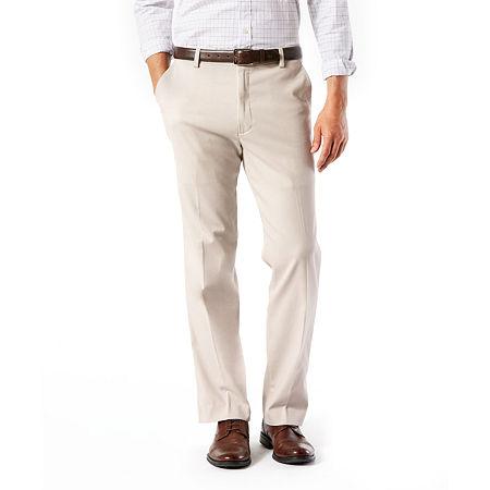 Dockers Men's Classic Fit Easy Khaki with Stretch Pants D3, 38 31, Beige